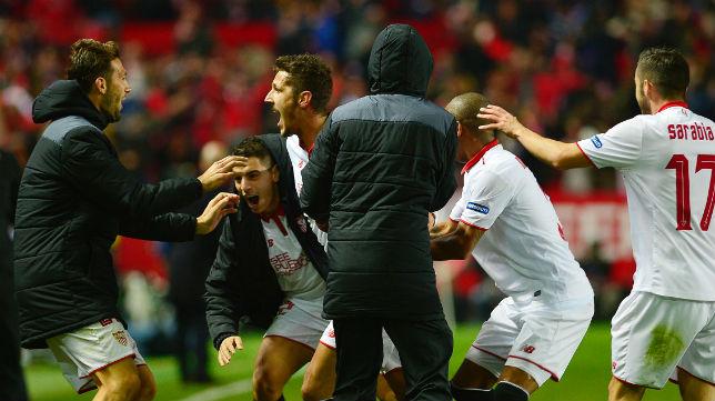 Stevan Jovetic celebra el gol que le marcó al Real Madrid en LaLiga (Foto: AFP Photo)