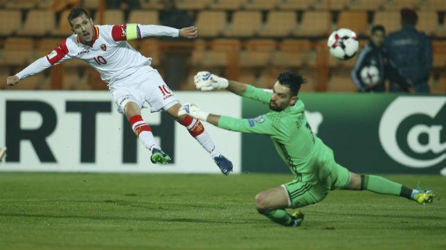 Jovetic, en un partido con la selección de Montenegro (Foto Reuters)
