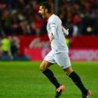 Stevan Jovetic celebra su gol al Real Madrid en LaLiga Santander