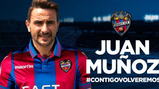 Juan Muñoz jugará en el Levante hasta final de temporada