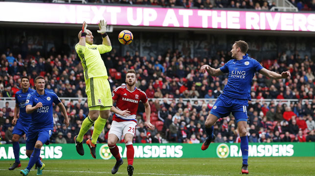 Partido entre el Middlesbrough y el Leicester (Foto: Reuters)