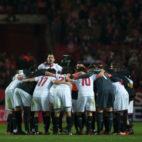 Imagen del partido del domingo ante el Madrid