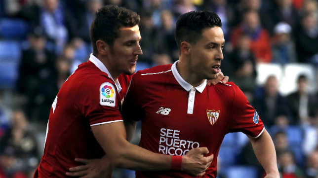 Nasri y Jovetic, en el partido con el Espanyol