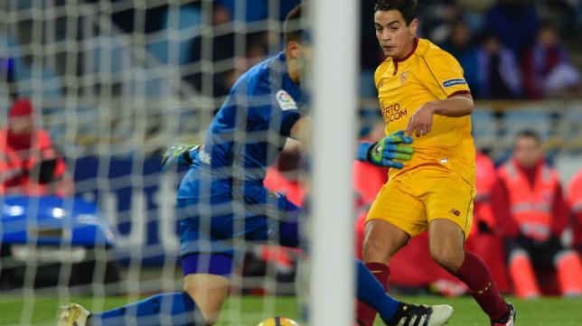 Ben Yedder anota el 0-1 en el Real Sociedad-Sevilla FC