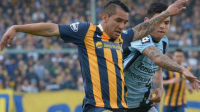 Montoya en un partido con Rosario Central