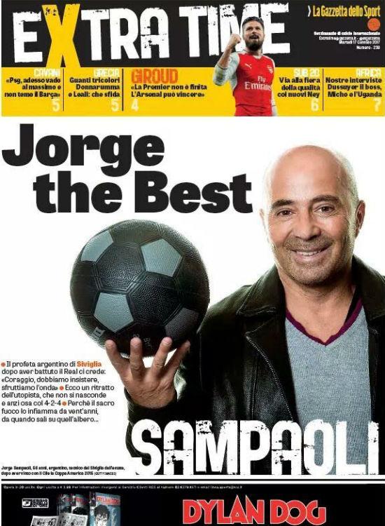 Portada de 'Extra-Time', la revista de La Gazzetta dello Sport