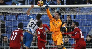 Sergio Rico en el Espanyol-Sevilla FC