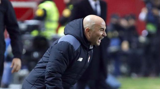 Sampaoli, en un instante del Sevilla FC-Real Madrid