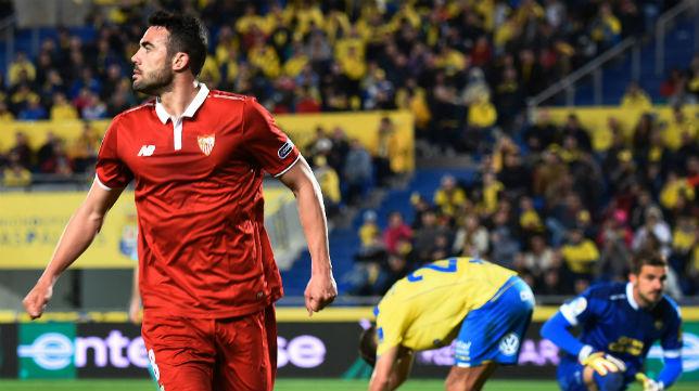 Vicente Iborra, en el Las Palmas-Sevilla (Foto: AFP)