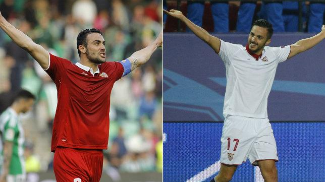 Iborra y Sarabia, centrocampistas del Sevilla FC