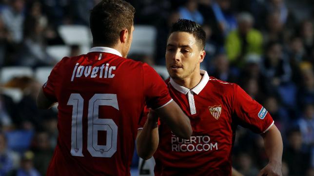Stevan Jovetic y Samir Nasri