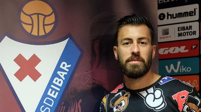 Antonio Luna, en las instalaciones del Eibar