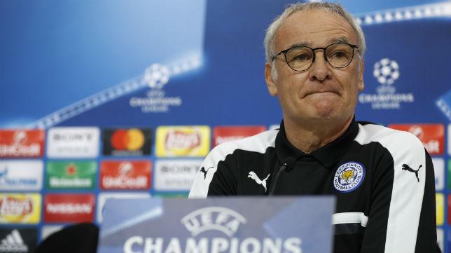 Ranieri, antes del Sevilla-Leicester (Foto: Reuters)
