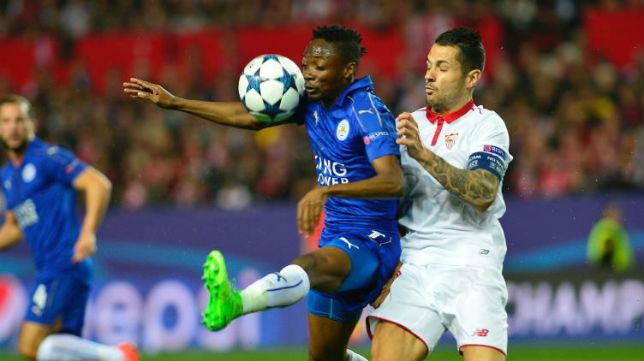 Vitolo hizo un buen encuentro en el Sevilla-Leicester