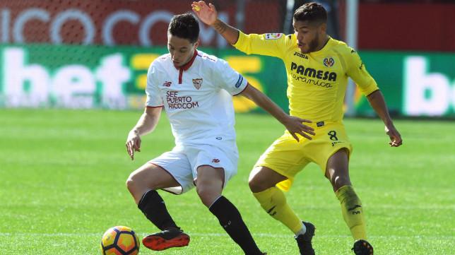 Nasri, en un lance del Sevilla FC-Villarreal