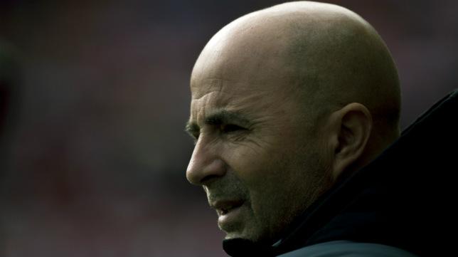 Jorge Sampaoli, en el Sevilla-Villarreal