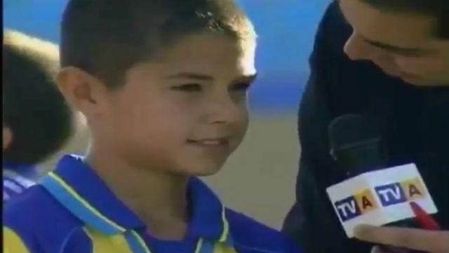 Vitolo, de pequelo, tras un partido en Las Palmas