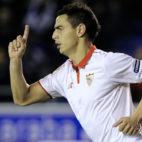 Ben Yedder celebra su gol ante el Alavés (Foto: AFP)