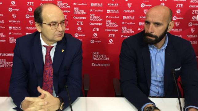 Castro y Monchi, en la comparecencia de este viernes (Foto: SFC)