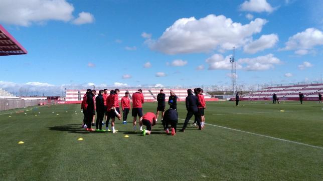 Entrenamiento del Sevilla FC de este jueves en la ciudad deportiva (Foto: SFC)
