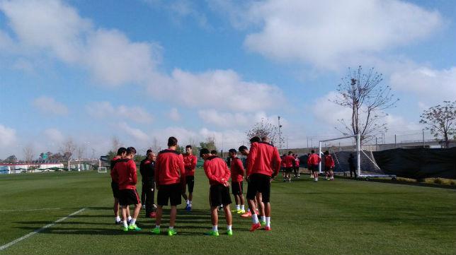 Entrenamiento del Sevilla (Foto: SFC)