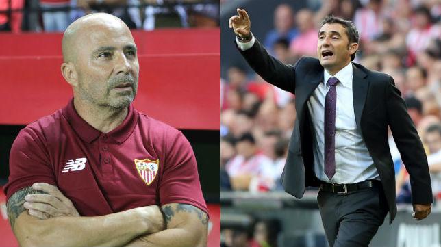 Jorge Sampaoli y Ernesto Valverde