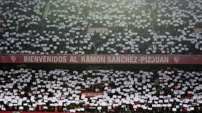 Imagen del Sánchez-Pizjuán el pasado jueves (Raúl Doblado)
