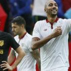 Nzonzi celebra su gol al Atlético