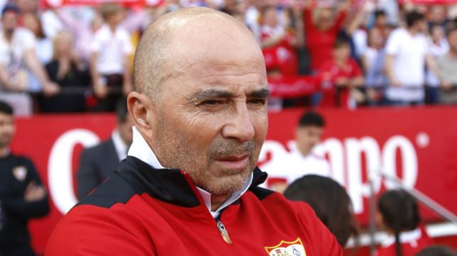 Sampaoli durante el partido