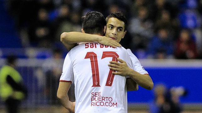 Sarabia y Ben Yedder, protagonistas en el gol