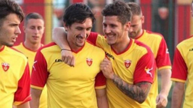 Savic y Jovetic, con la selección de Montenegro
