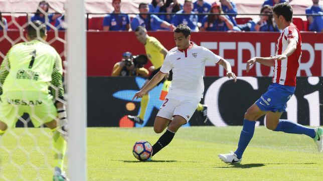 Ben Yedder, en el Sevilla-Sporting