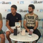 Iborra, Carriço, Pareja y Vitolo, los capitanes del Sevilla FC, en un acto