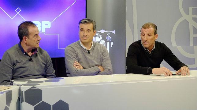 De izquierda a derecha, Ramón Vázquez, Miguel Ángel Gómez y Óscar Arias