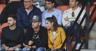 Marchena, junto a Paco Gallardo, en el palco de la ciudad deportiva de Paterna durante el Mestalla-Atlético Levante (Foto: www.valenciacf.com)