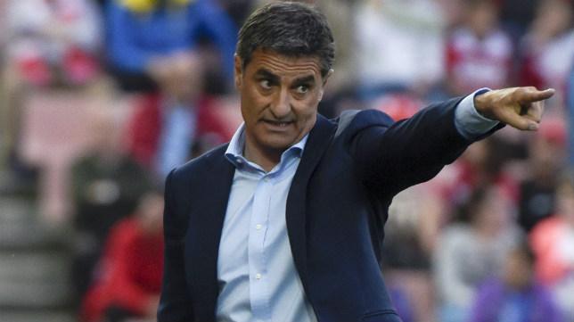El técnico del Málaga, Míchel