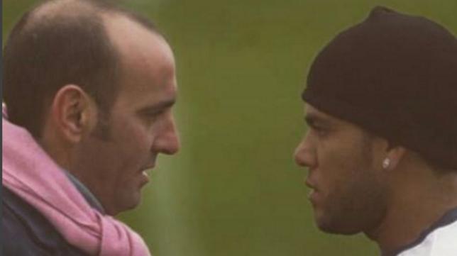 Monchi, con Daniel Alves