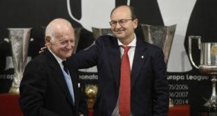 Antonio García Guzmán junto al presidente, José Castro
