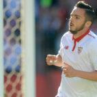 Sarabia celebra su gol ante el Deportivo