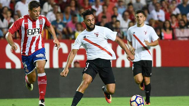 Imagen de un partido del Sevilla Atlético en el Sánchez-Pizjuán esta temporada