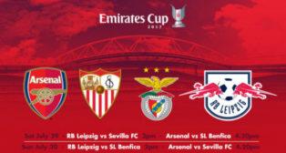 Cartel de la Emirates Cup 2017, con el Sevilla FC