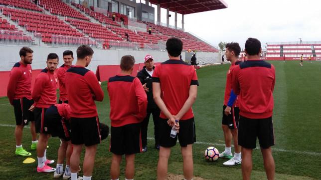 Entrenamiento del Sevilla FC este miercoles 10 de mayo. Foto: SFC