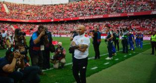 Sampaoli, en los momentos previos al Sevilla-Osasuna