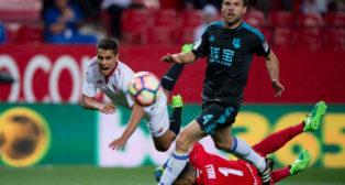 Ben Yedder, en un lance del Sevilla FC-Real Sociedad