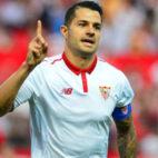 Vitolo celebra un gol en el Sevilla-Osasuna (Foto: AFP)
