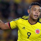 Muriel, en un partido con Colombia (Foto: AFP)
