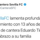 El Sevilla FC expresó su dolor a través de las redes sociales
