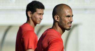 Pizarro, en un entrenamiento del Sevilla en la ciudad deportiva (foto: Jesús Spinola)