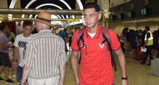 Ganso, en el aeropuerto de San Pablo (foto: J. Spinola)