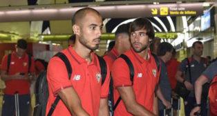 Pizarro y Caro, en el aeropuerto de San Pablo (foto: J. Spinola)